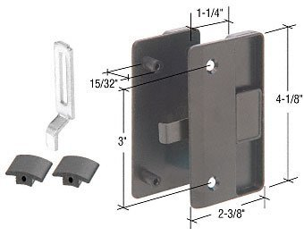 C.R. LAURENCE A218 CRL nero Sliding Screen Door Latch and Pull with 3 Screw Holes for 1 2 Thick C by C.R. Laurence