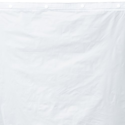 olyester with PEVA Snap-in Shower Curtain Liner, Bright White, 70 x 54 ()