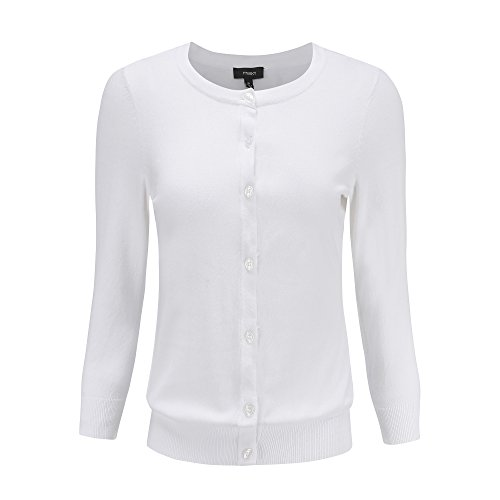 YTUIEKY Sweaters for Women - Crew Neck 3/4 Sleeve - 70 Cotton is Best Material (M, (Lightweight Cotton Crewneck Sweater)