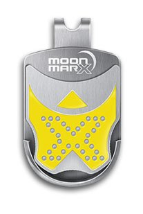 Moonmarx Golf Ball Marker and Putt Aligner with Magnetic Clip (Yellow). Patented high quality ball marker made from Stainless Steel. Conforms to USGA standards. 30 Day Money Back Guarantee!