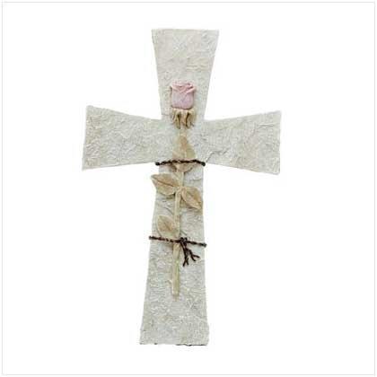 Alabaster Roses - Alabaster Rose on Cross
