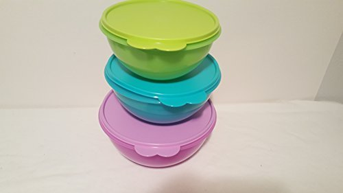 Tupperware Storage Bowl Mixing Classic Nesting Feaure Three Piece Set