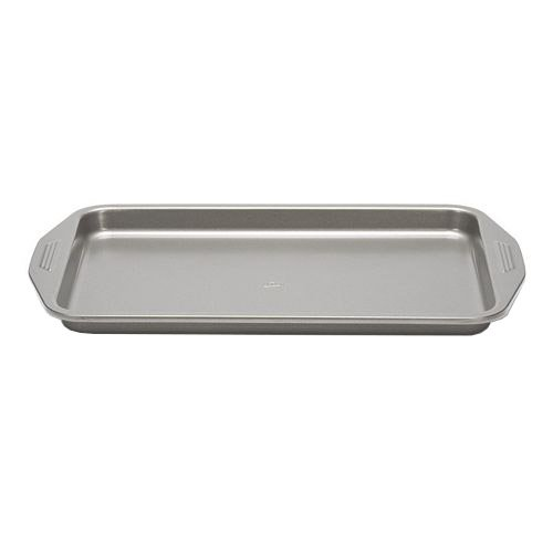 Patisse Carat Jelly Roll Pan with Heavy Duty Double Non-Stick Coating, Dark Grey Metallic