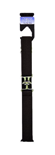Dapper Snappers Made in USA Girls Big Kids Elastic Stretch Belt with Silver Metal Clasp Buckle, Chocolate