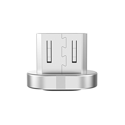 WAMTRONICS Wsken Micro USB Cable Magnetic Plug Fast Charger Adapter Connector for Android (Silver)