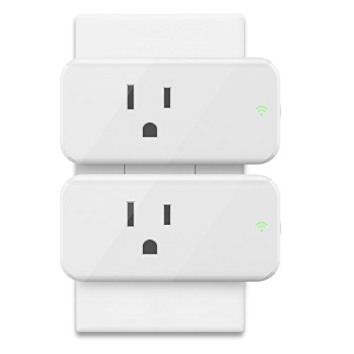 Alexa Smart WiFi Plug Mini - Maxcio 15A Wifi Socket Outlet (2 Packs) with Energy Monitoring, Compatible with Alexa and Google Assistant, Control Your Lights, Appliances from Your Phone