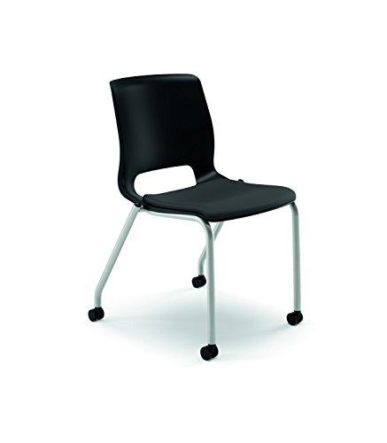 HON HONMG2NHONCU10P Motivate Stacking Chair, Black/Onyx CU10