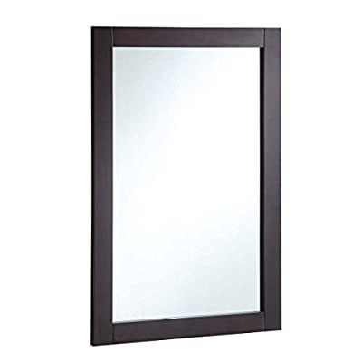 Design House 547075 20 30-inch Vanity Mirror, Espresso - Add a stylish touch to your bathroom décor 20-inches by 30-inches Espresso-colour finish with satin nickel hardware included - bathroom-mirrors, bathroom-accessories, bathroom - 31ikfwN5Q4L. SS400  -