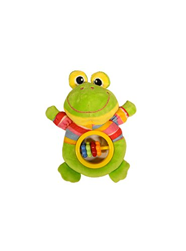 Baberoo Soft Stuffed Animal Toy Abacus Rattle for Babies, Frog, 5 Inches