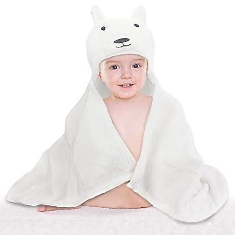 Toalla con capucha Bebé, DIAOPROTECT Bebé con capucha Toallas de baño Recién nacido, Extra
