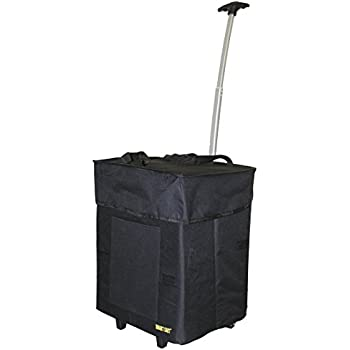 Bigger Smart Cart Black Multipurpose Rolling Collapsible Utility Cart Basket