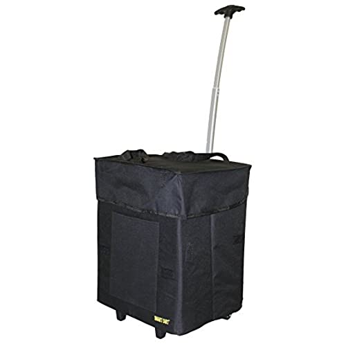 Dbest Products Bigger Smart Cart Black Multipurpose Rolling Collapsible  Utility Cart Basket