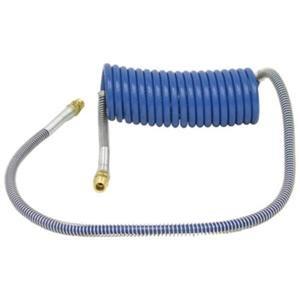 15' Coiled Air Brake Hose Service Coil Blue