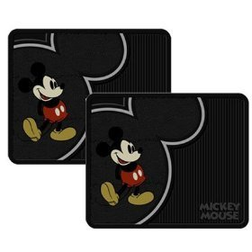 2 Utility Rubber Floor Mats - Disney Vintage Mickey Mouse