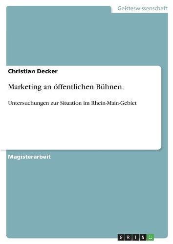 Marketing an öffentlichen Bühnen. (German Edition) ebook