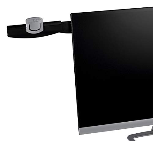 3M Monitor Mount Document Clip, Mounts Right or Left with Command Adhesive, Swings Forward and Back for Easy Viewing and Storage, 30 Sheet Capacity, Black (DH240MB) (Renewed)