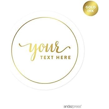 amazon com andaz press fully personalized round wedding favor gift