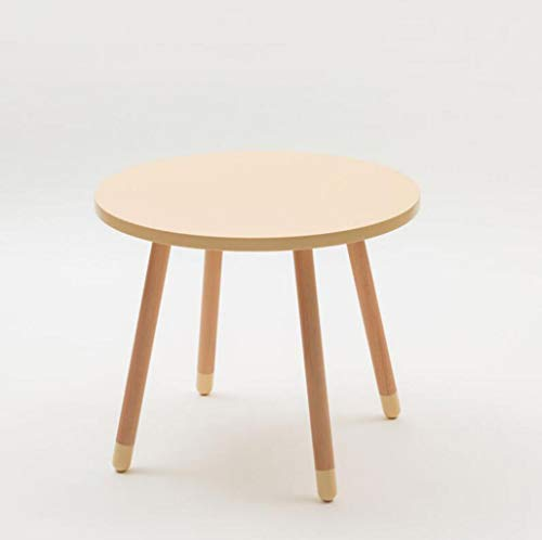 Qkdsa Nested Table White Round Table Coffee Table With 4 Solid