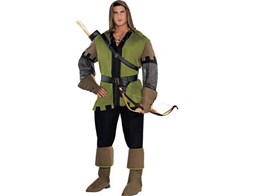 AMSCAN Prince of Thieves Robin Hood Halloween Costume for Men, Plus Size, with Included Accessories ()