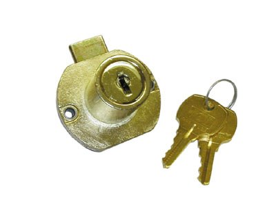 National Lock N8705 04G Kdm 1-.19 In Material Cylinder Drawer Lock For Up To 1-.13 In Antique Brass