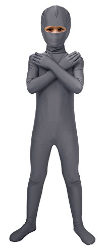 Open Fancy Eyes Gray Dress Bodysuit Spandex Kids Costume Sheface Dark qxBHwtvB