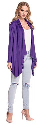 Glamour larga Púrpura cascada Empire Abrigo 320p manga chaqueta mujer para OCwaxPrqO