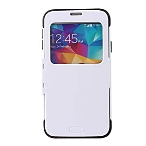 GX color sólido conjunto con un caso de cuerpo completo con claraboya caja de la PC para Samsung i9600 s5 , White