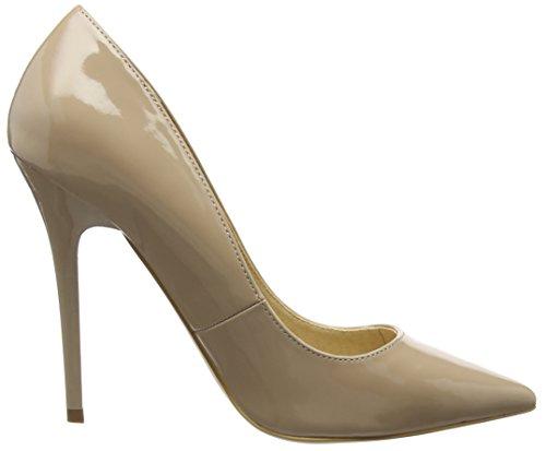 Tacón Office de Nude Patent on con Cerrada W Mujer Punta Tops Beige Zapatos wXqnFaTX