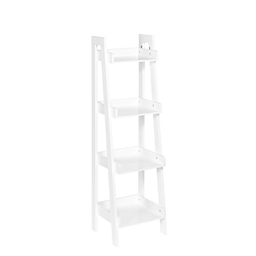 (RiverRidge 4-Tier Ladder Shelf for Kids, White)