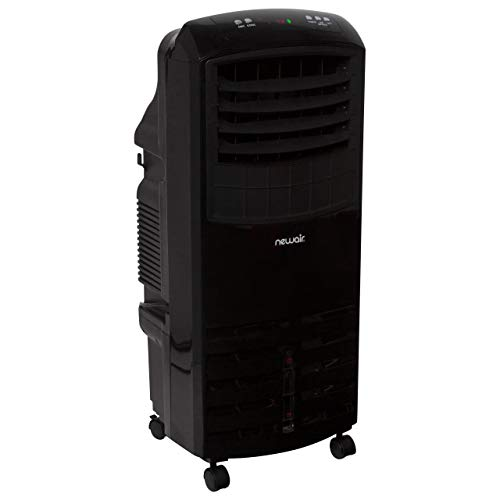 NewAir Portable Evaporative Air Cooler with Fan & Humidifier, Indoor Tower Fan in Black, AF-1000B
