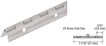 "holes 4 PCS USA Steel Piano Cabinet Door Hinge 1//16/"" X 1/"" X 1/"" X 15-1//2/"" LONG"