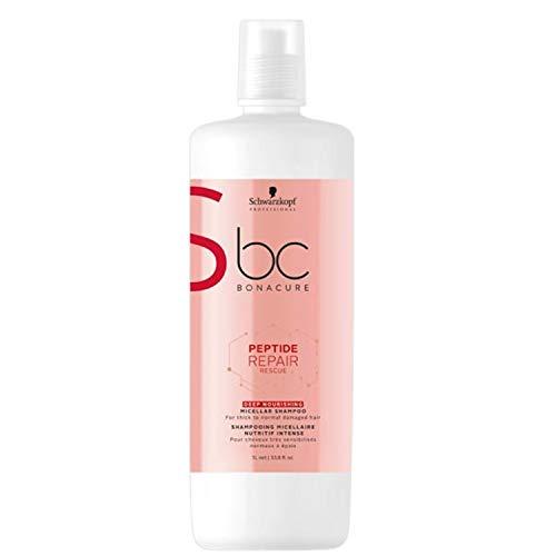 Schwarzkopf Professional BONACURE Peptide Repair Rescue Deep Nourishing Micellar Shampoo, 1 l