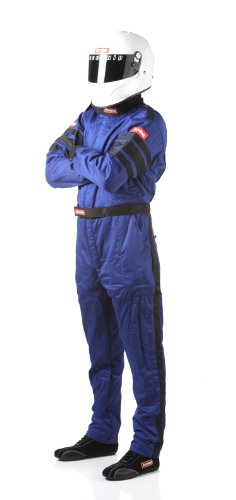 RaceQuip 120025 120 Series Large Blue SFI 3.2A/1 Multi-Layer One-Piece Driving Suit