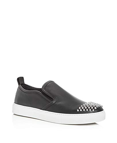 McQ Alexander McQueen Chris Studded Leather Slip-On Sneakers Black