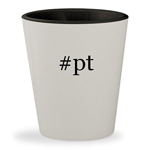 Price comparison product image #pt - Hashtag White Outer & Black Inner Ceramic 1.5oz Shot Glass