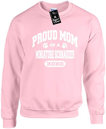 (Unisex Funny Crewneck XL (Proud Mom of a Miniature Schnauzer (Dog) Sweatshirt)