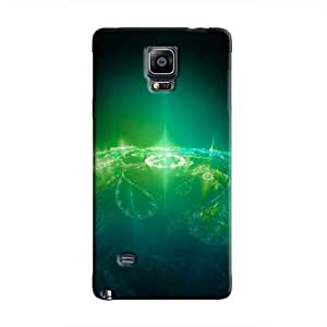 Cover It Up - Green Pattern Planet Galaxy Note 4 Hard Case