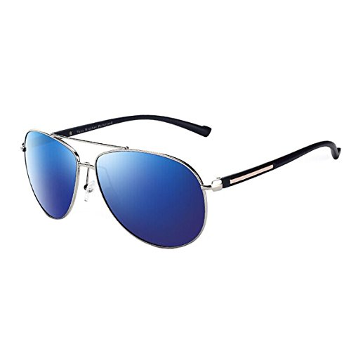 de Framed Conducir de de Gafas Blue Gold KOMNY Gafas Oro de polarizada Marco polarizada Film Hombres Sol los Coche Silvery luz de 3003 Sol q5xCxnB6
