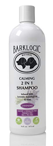 BarkLogic Plant Based 2 in 1 Dog Shampoo and Conditioner, Lavender, 16 fl oz - Grooming Essentials for A Healthy Coat - No Parabens, No Phthalates, No Sulfates, No DEA & PEG, Hypoallergenic & Vegan