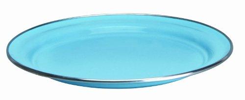 Cinsa 312062 Trend Ware Enamel on Steel Dinner Plate, 10-Inch, Arctic Blue
