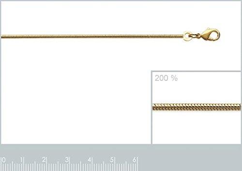 ISADY - Serpi Gold 1,4 - Chaîne Maille Serpent - Plaqué Or 750/000 (18 carats) - Longueur 50 cm - Largeur 1,4
