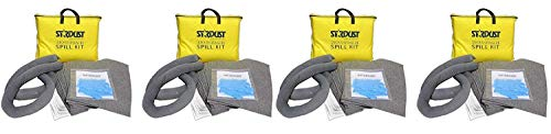 Stardust Spill Products D715 Quick Response II Spill Kit Includes Yellow Duffle, 15 Universal Sorbent Pads, 2 Universal Sorbent Socks 3