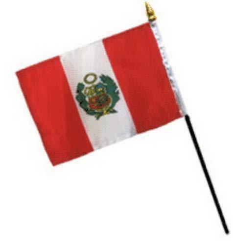 Kaputar 4x6 Peru Stick Flag Table STF Desk Table | Model FLG - 7595 ()