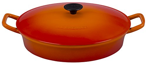 Le Creuset of America Enameled Cast Iron Fait Tout, 3 3/4 quart, Flame