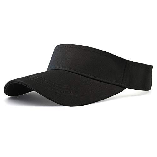 HH HOFNEN Sports Sun Visor Hats Twill Cotton Ball Caps for Men Women Adults Kids (#2 Dark Black)