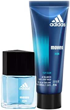 adidas Moves for Him Eau De Toilette and Hair and Body Wash