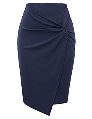 Kate Kasin Wear to Work Pencil Skirts for Women High Waist