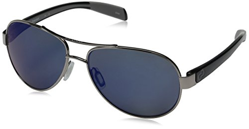 Native Eyewear Haskill Polarized Sunglass, Chrome and Iron Frame/Blue Reflex - Sports Boots Sunglasses