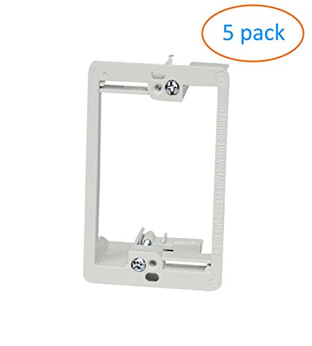Single Voltage Low Gang (Kenuco White Single Gang Low Voltage Mounting Bracket | Pack of 5)