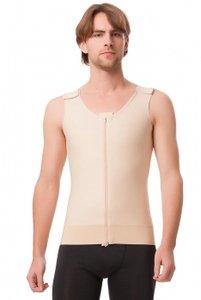 Male shapewear Men Compression Vest Tank with center zipp...